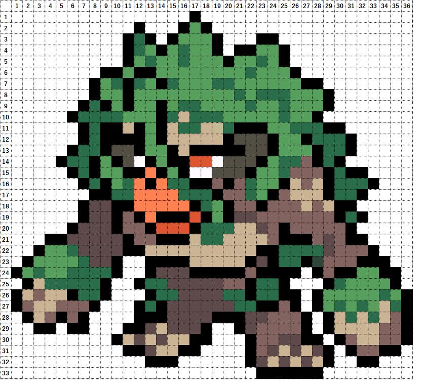 Pokemon Perler Beads アイロンビーズ 図案 ポケモン 812 ゴリランダー Rillaboom