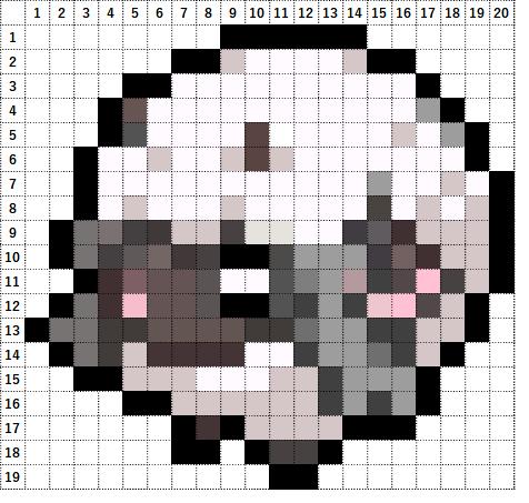 Pokemon Perler Beads アイロンビーズ 図案 ポケモン 831 ウールー Wooloo