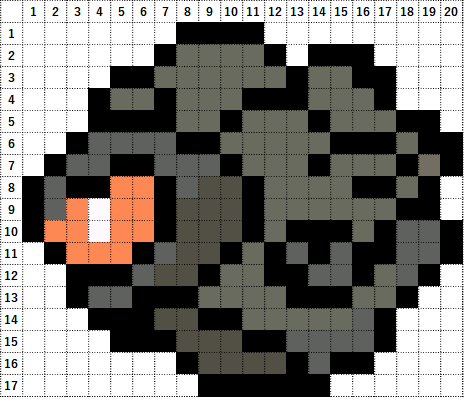 Pokemon Perler Beads アイロンビーズ 図案 ポケモン 837 タンドン Rolycoly