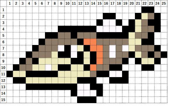 Pokemon Perler Beads アイロンビーズ 図案 ポケモン 846 サシカマス Arrokuda
