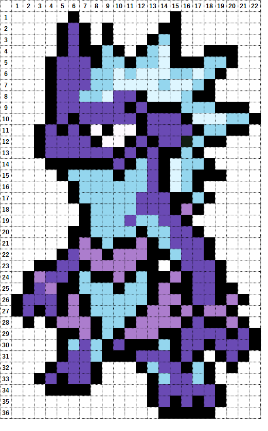 Pokemon Perler Beads アイロンビーズ 図案 ポケモン 849 ストリンダー ローなすがた Toxtricity Low Key Form