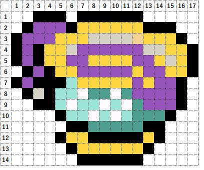Pokemon Perler Beads アイロンビーズ 図案 ポケモン 854 ヤバチャ Sinistea