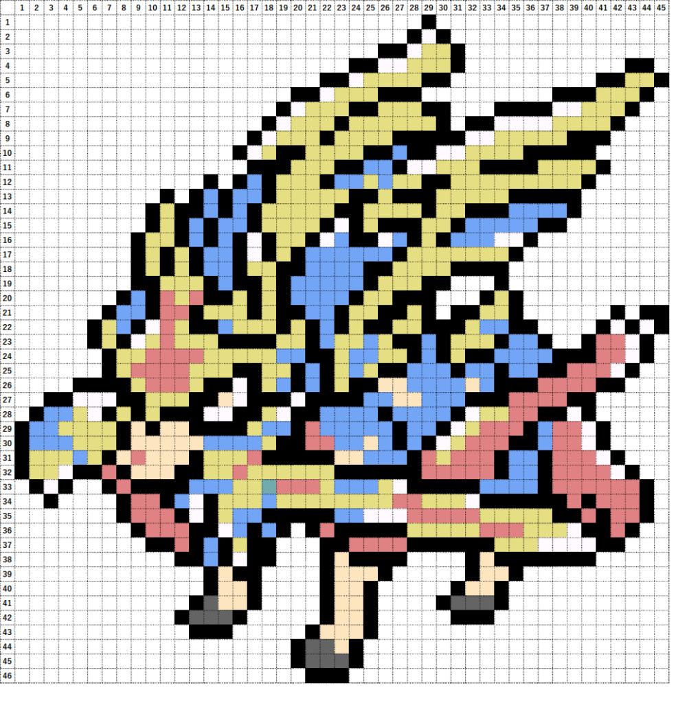 Pokemon Perler Beads アイロンビーズ 図案 ポケモン 888 ザシアン けんのおう Zacian