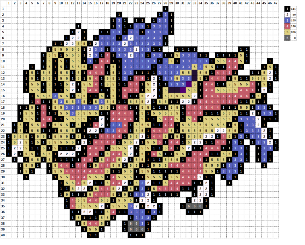 Pokemon Perler Beads アイロンビーズ 図案 ポケモン 889 ザマゼンタ たてのおう Zamazenta