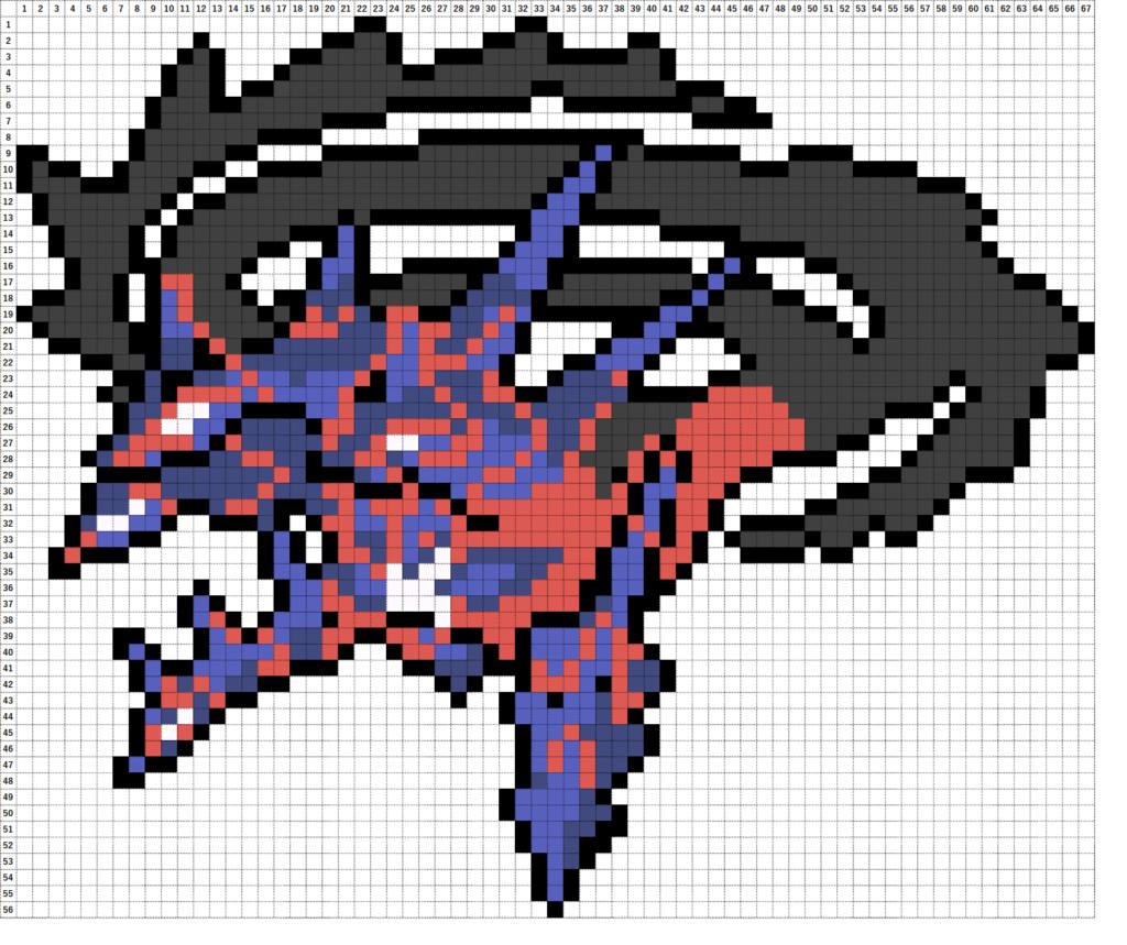 Pokemon Perler Beads アイロンビーズ 図案 ポケモン 890 ムゲンダイナ ダイマックス Eternatus Dynamax