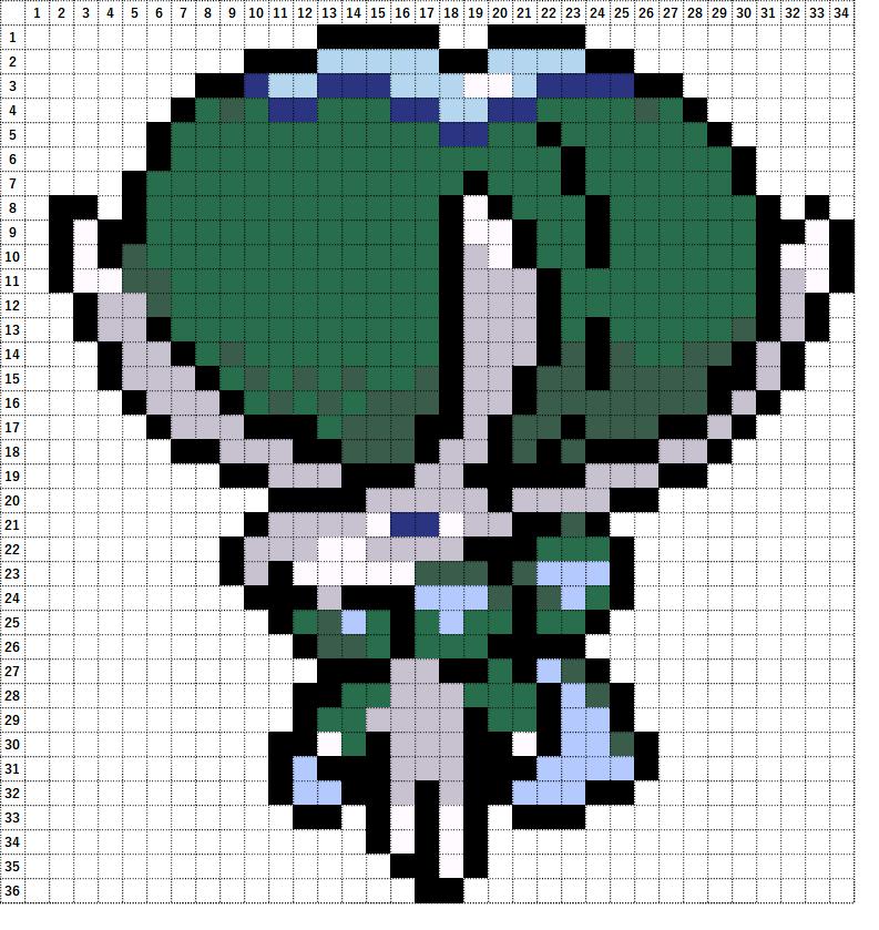 Pokemon Perler Beads アイロンビーズ 図案 ポケモン 898 バドレックス Calyrex