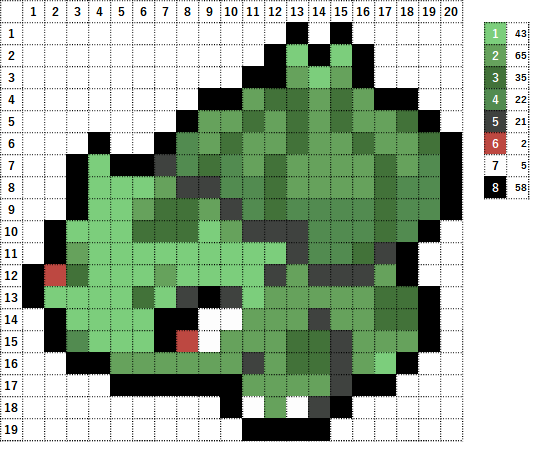 Pokemon ポケモン 図案 001 フシギダネ Bulbasaur
