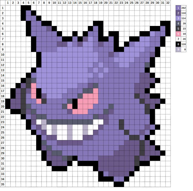 Pokemon ポケモン 図案 094 ゲンガー Gengar