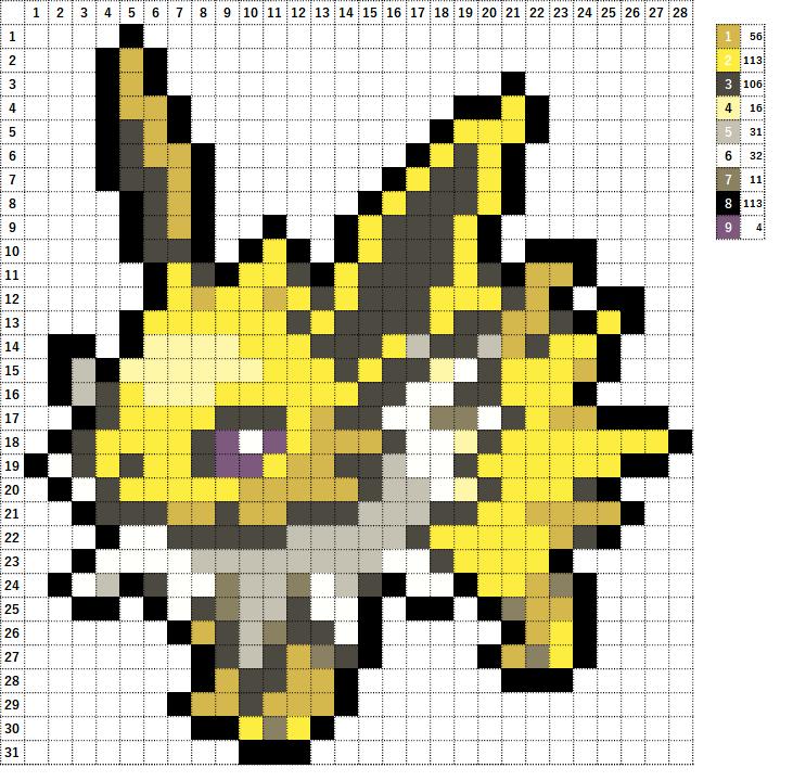 Pokemon ポケモン 図案 135 サンダース Jolteon