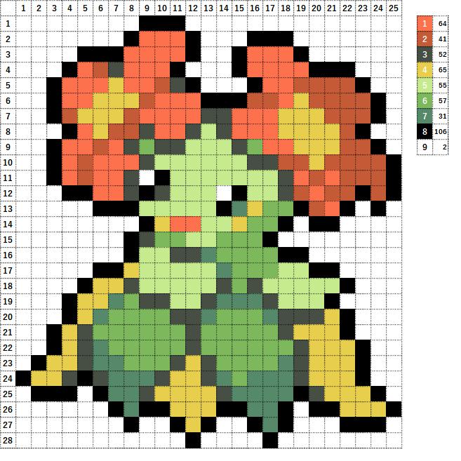Pokemon ポケモン 図案 182 キレイハナ Bellossom