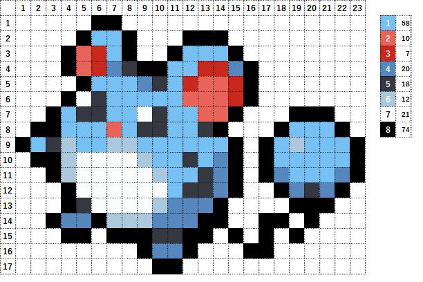Pokemon ポケモン 図案 183 マリル Marill