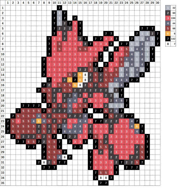 Pokemon ポケモン 図案 212 ハッサム Scizor