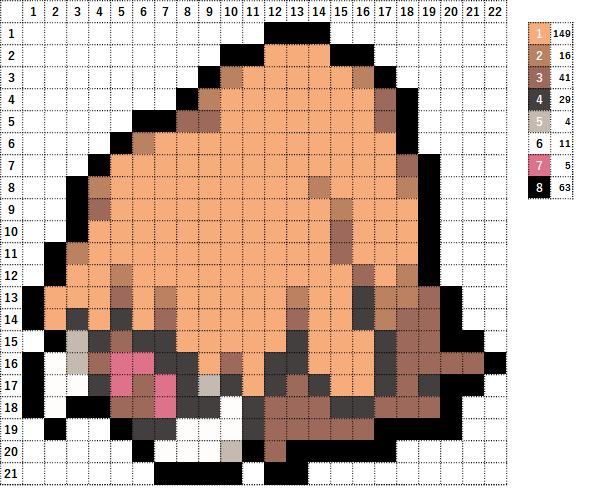Pokemon ポケモン 図案 221 イノムー Piloswine