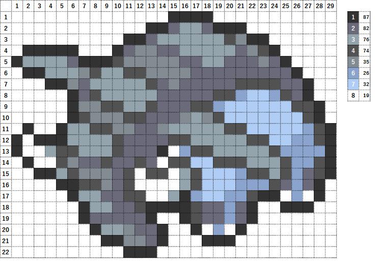 Pokemon ポケモン 図案 232 ドンファン Donphan