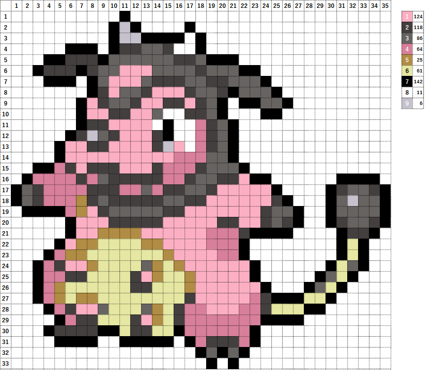 Pokemon ポケモン 図案 241 ミルタンク Miltank