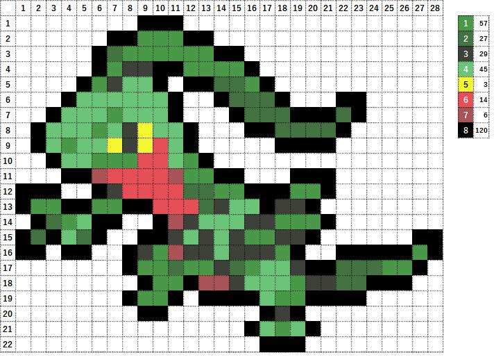 Pokemon ポケモン 図案 253 ジュプトル Grovyle