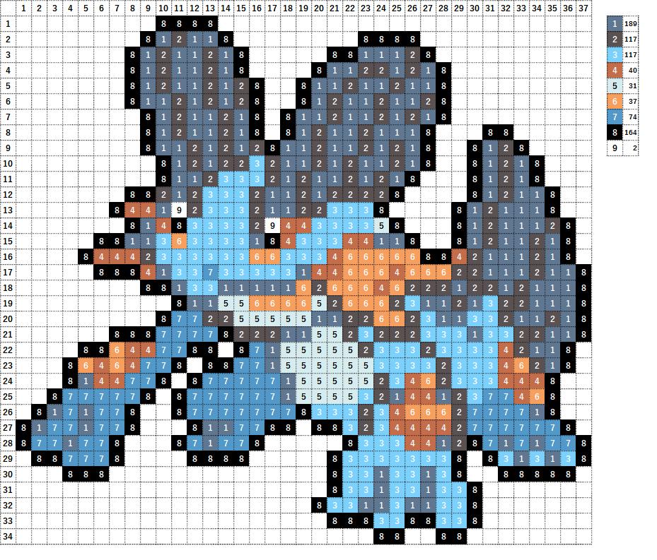 Pokemon ポケモン 図案 260 ラグラージ Swampert