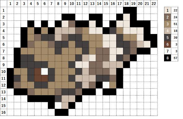 Pokemon ポケモン 図案 263 ジグザグマ Zigzagoon
