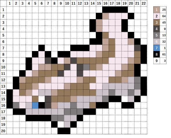 Pokemon ポケモン 図案 264 マッスグマ Linoone