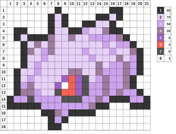 Pokemon ポケモン 図案 268 マユルド Cascoon