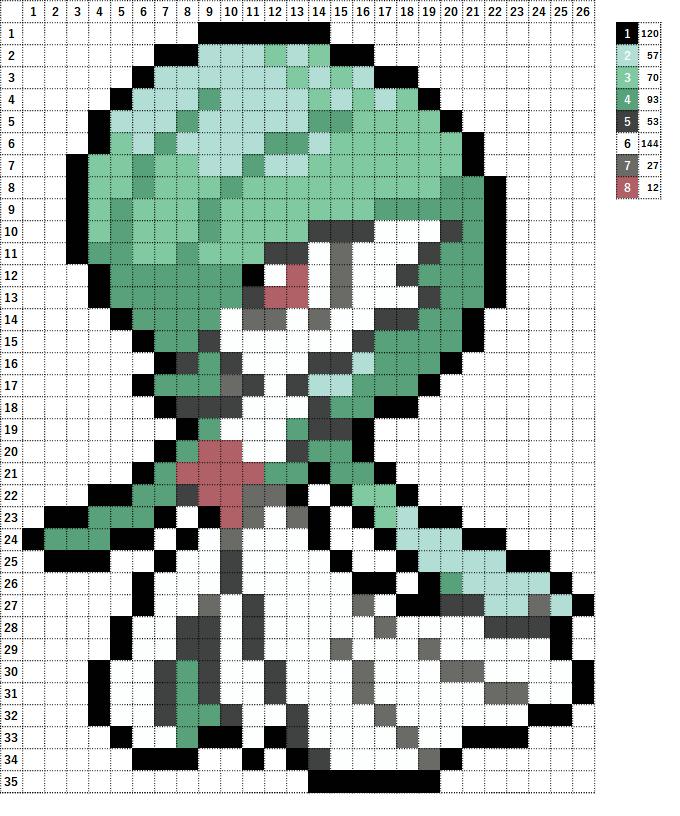 Pokemon ポケモン 図案 282 サーナイト Gardevoir