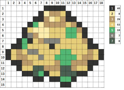 Pokemon ポケモン 図案 285 キノココ Shroomish