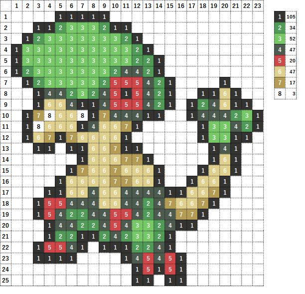 Pokemon ポケモン 図案 286 キノガッサ Breloom