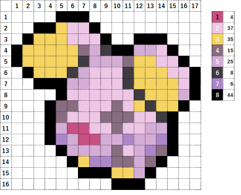 Pokemon ポケモン 図案 293 ゴニョニョ Whismur