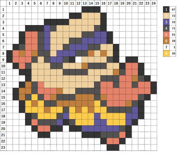 Pokemon ポケモン 図案 297 ハリテヤマ Hariyama