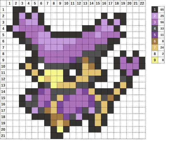 Pokemon ポケモン 図案 301 エネコロロ Delcatty