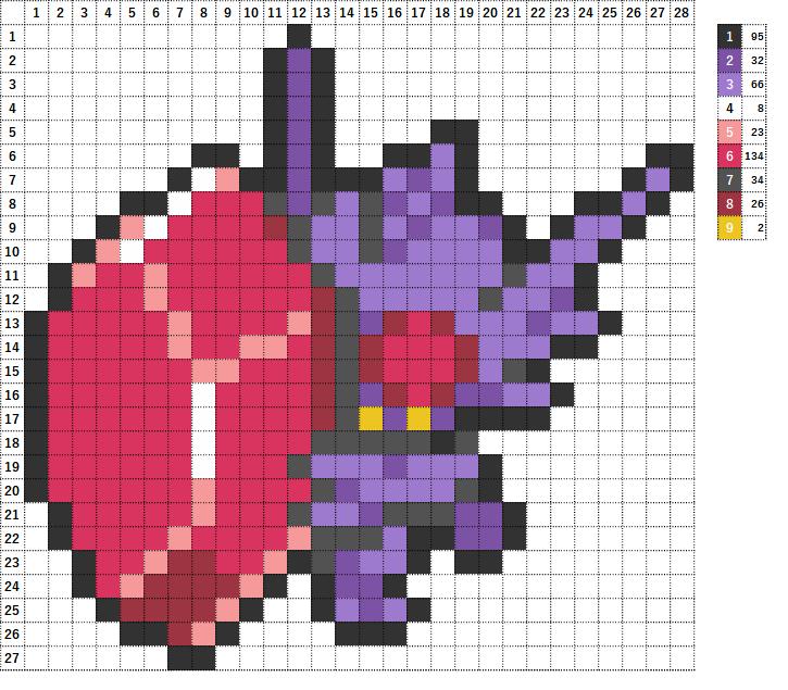 Pokemon ポケモン 図案 302 ヤミラミ Sableye