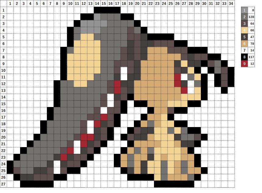 Pokemon ポケモン 図案 303 クチート Mawile
