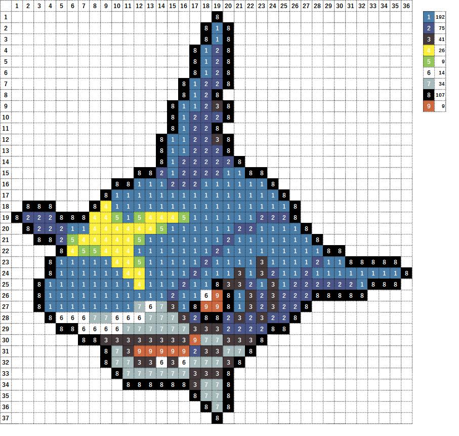 Pokemon ポケモン 図案 319 サメハダー Sharpedo