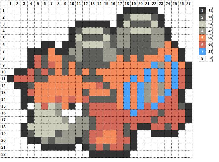 Pokemon ポケモン 図案 323 バクーダ Camerupt