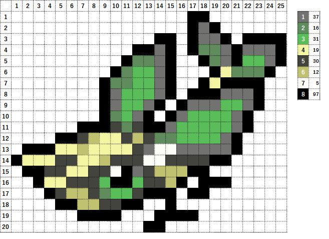 Pokemon ポケモン 図案 329 ビブラーバ Vibrava