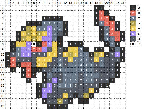 Pokemon ポケモン 図案 336 ハブネーク Seviper