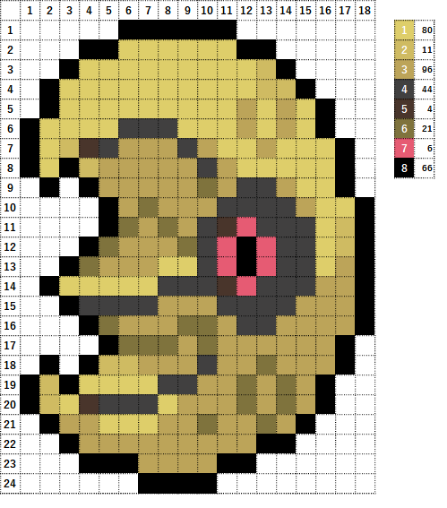 Pokemon ポケモン 図案 337 ルナトーン Lunatone