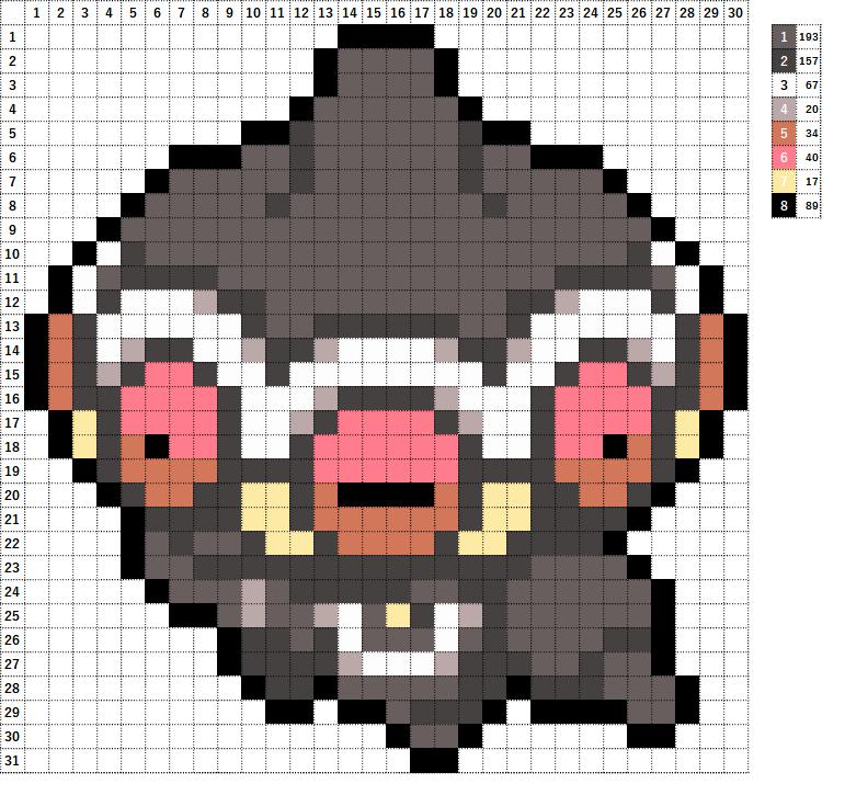 Pokemon ポケモン 図案 344 ネンドール Claydol