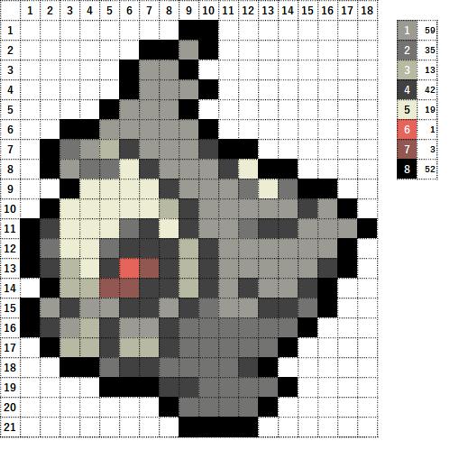 Pokemon ポケモン 図案 355 ヨマワル Duskull