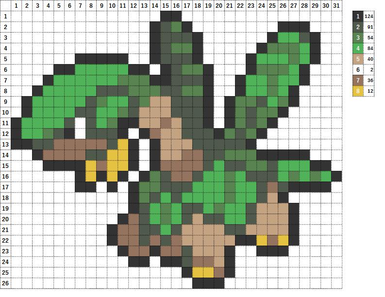 Pokemon ポケモン 図案 357 トロピウス Tropius