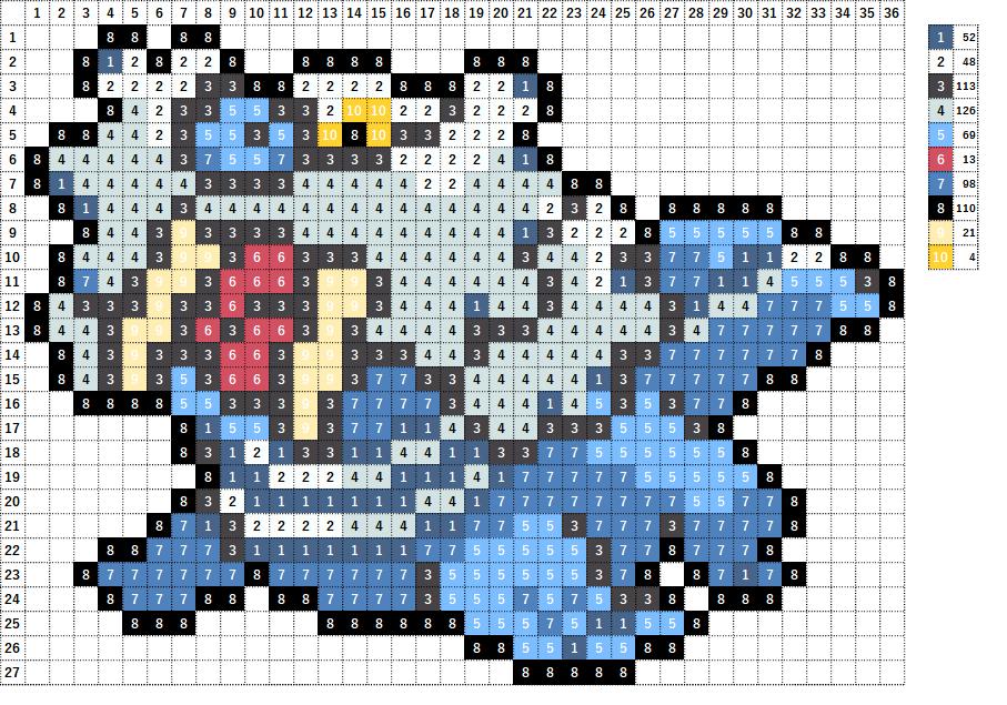 Pokemon ポケモン 図案 365 トドゼルガ Walrein