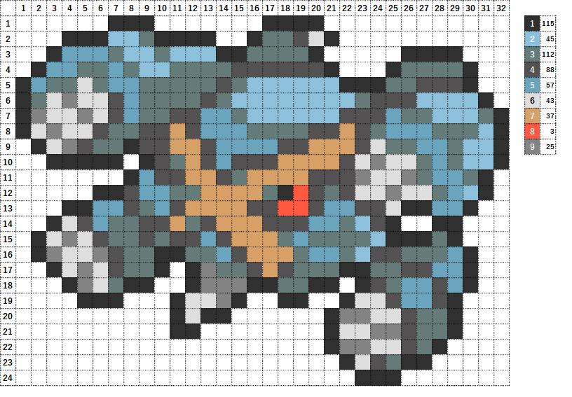 Pokemon ポケモン 図案 376 メタグロス Metagross