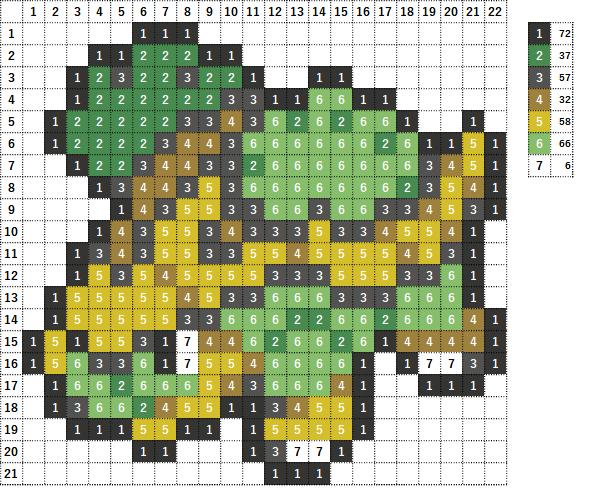 Pokemon ポケモン 図案 388 ハヤシガメ Grotle