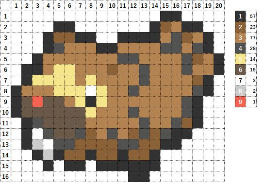 Pokemon ポケモン 図案 399 ビッパ Bidoof