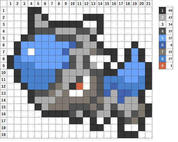 Pokemon ポケモン 図案 408 ズガイドス Cranidos