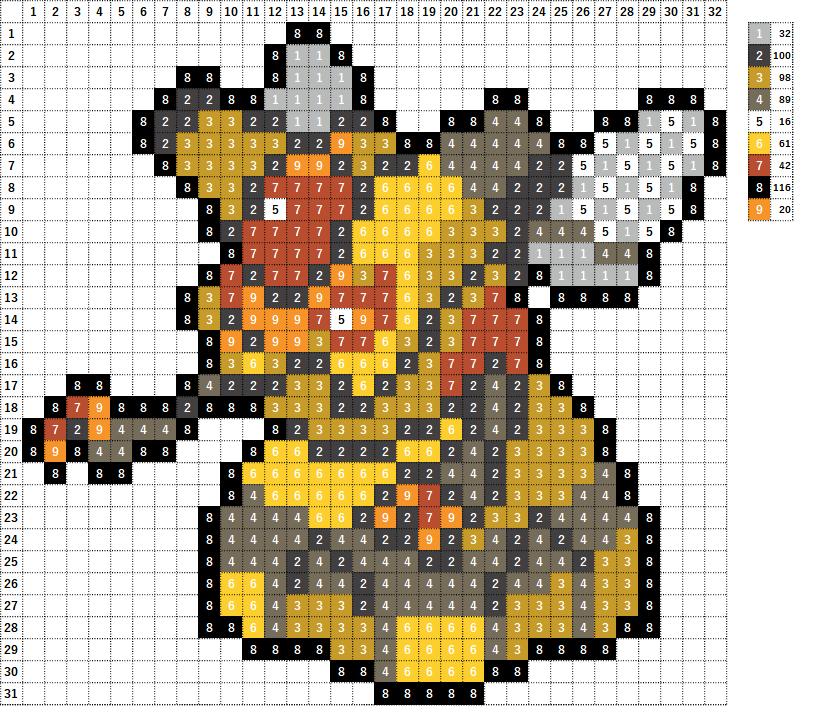 Pokemon ポケモン 図案 416 ビークイン Vespiquen