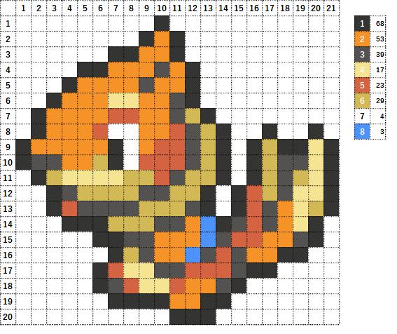 Pokemon ポケモン 図案 418 ブイゼル Buizel