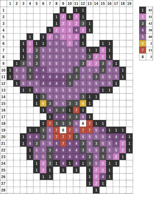 Pokemon ポケモン 図案 429 ムウマージ Mismagius