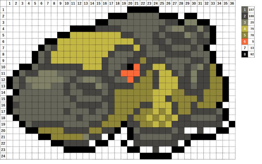 Pokemon ポケモン 図案 450 カバルドン Hippowdon
