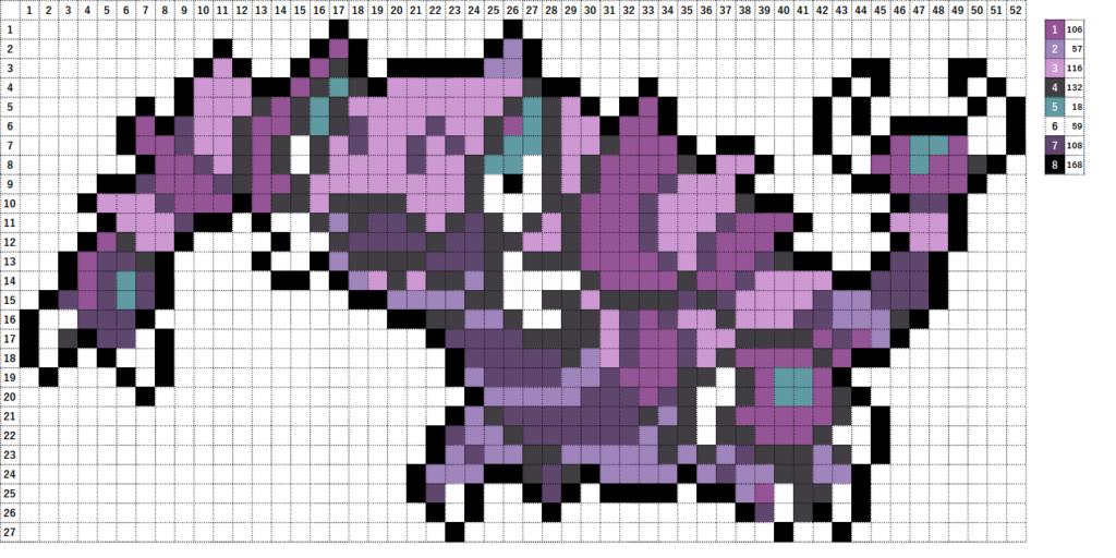 Pokemon ポケモン 図案 452 ドラピオン Drapion
